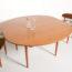 table ovale vintage, table ovale, table ovale extensible, table vintage, table à manger ovale vintage, table scandinave, table formica, table extensible vintage