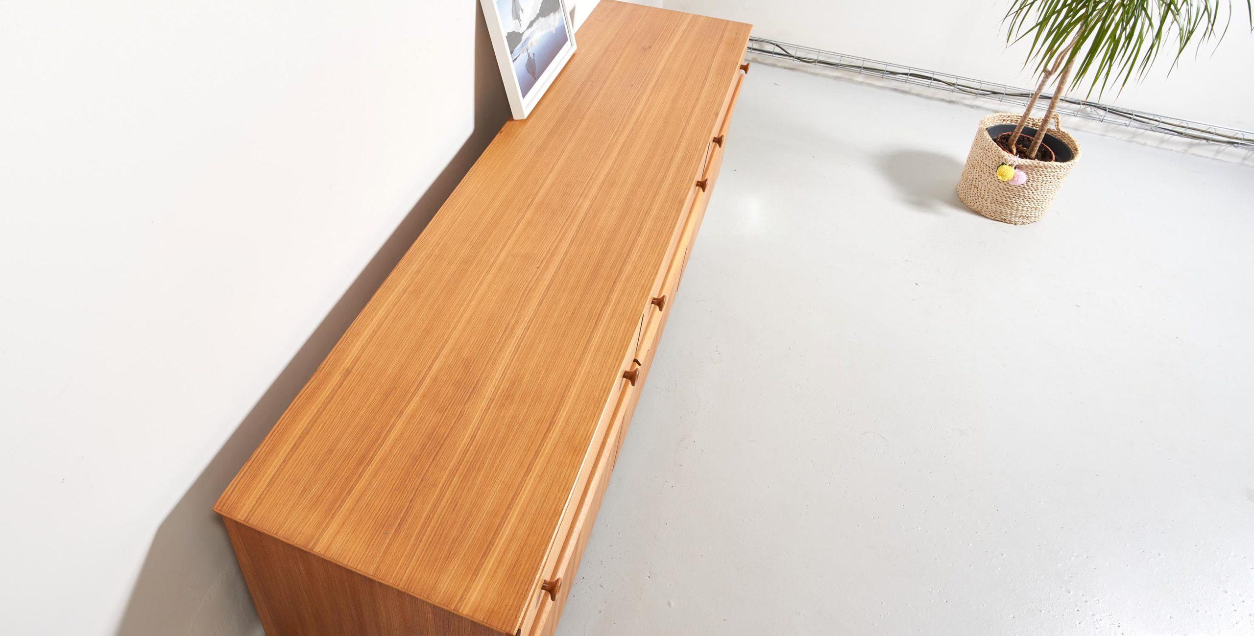 enfilade 2m, enfilade bois clair, enfilade bois clair vintage, enfilade